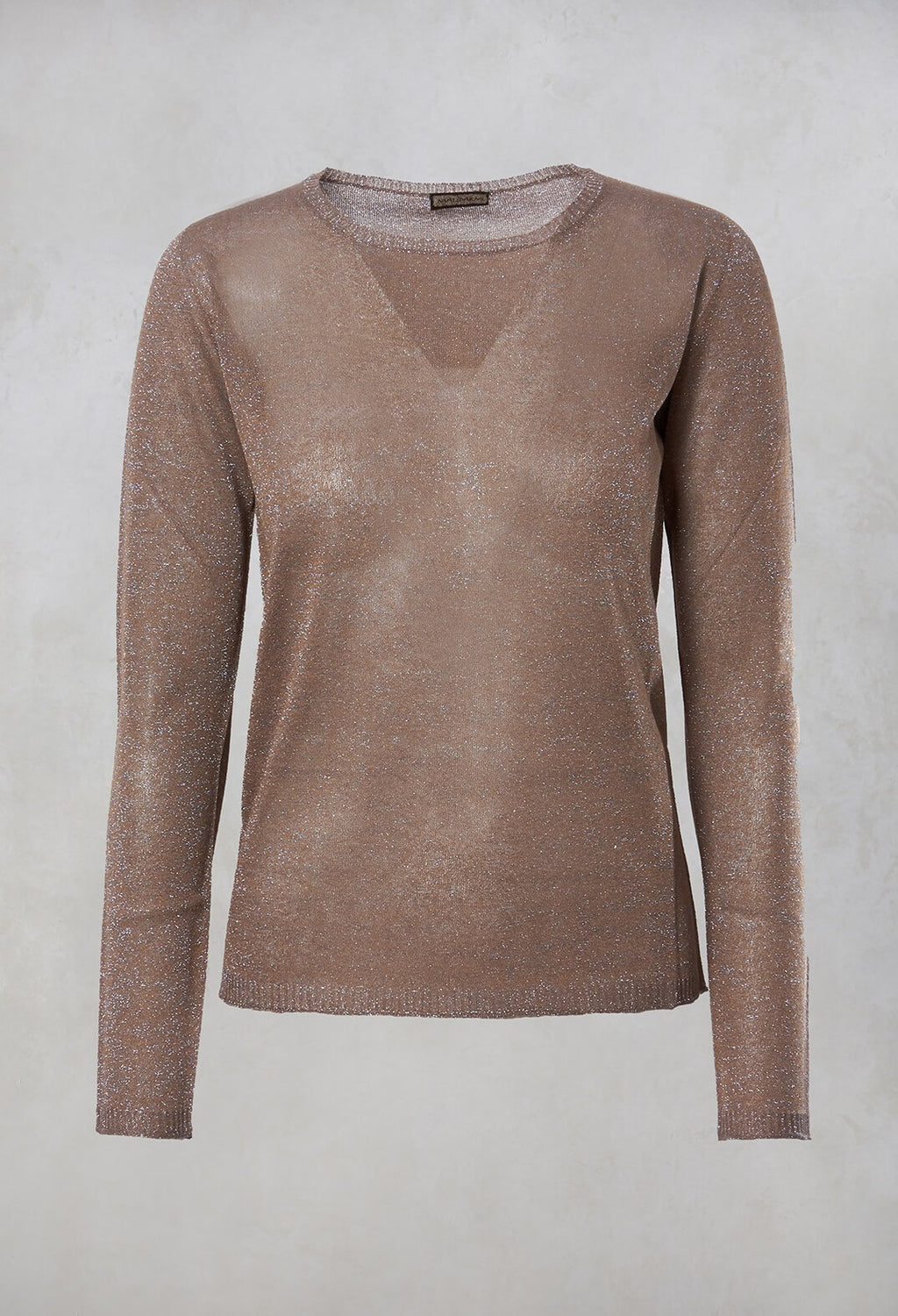 Metallic Fine Knit Jumper in Yuta