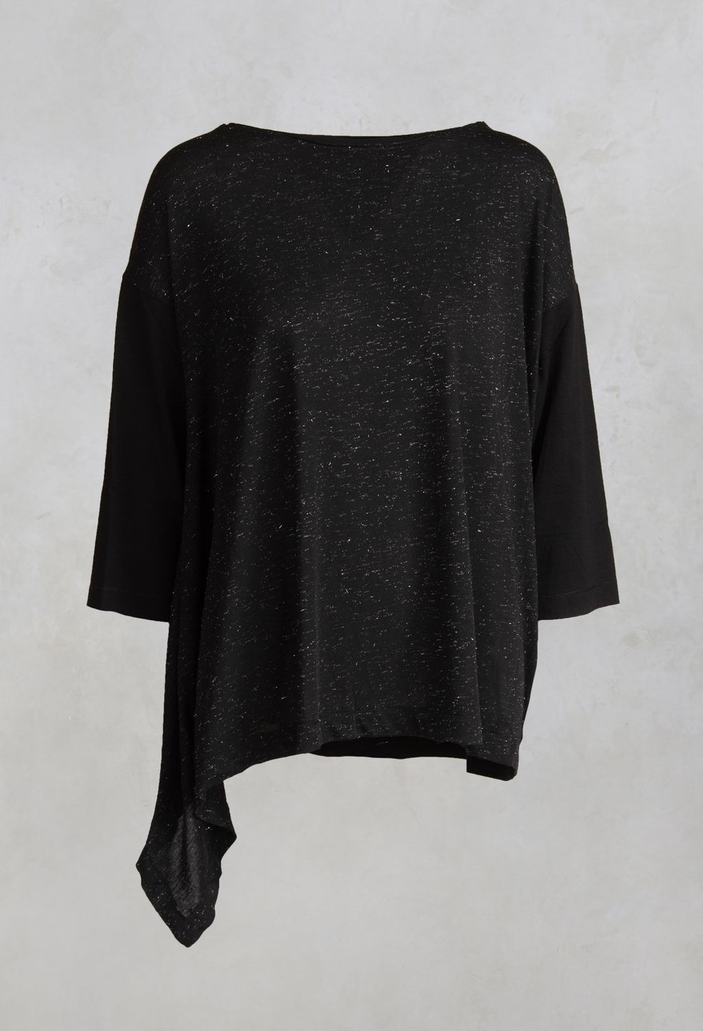 Speckled Top Shirt Loar in Black / Silver