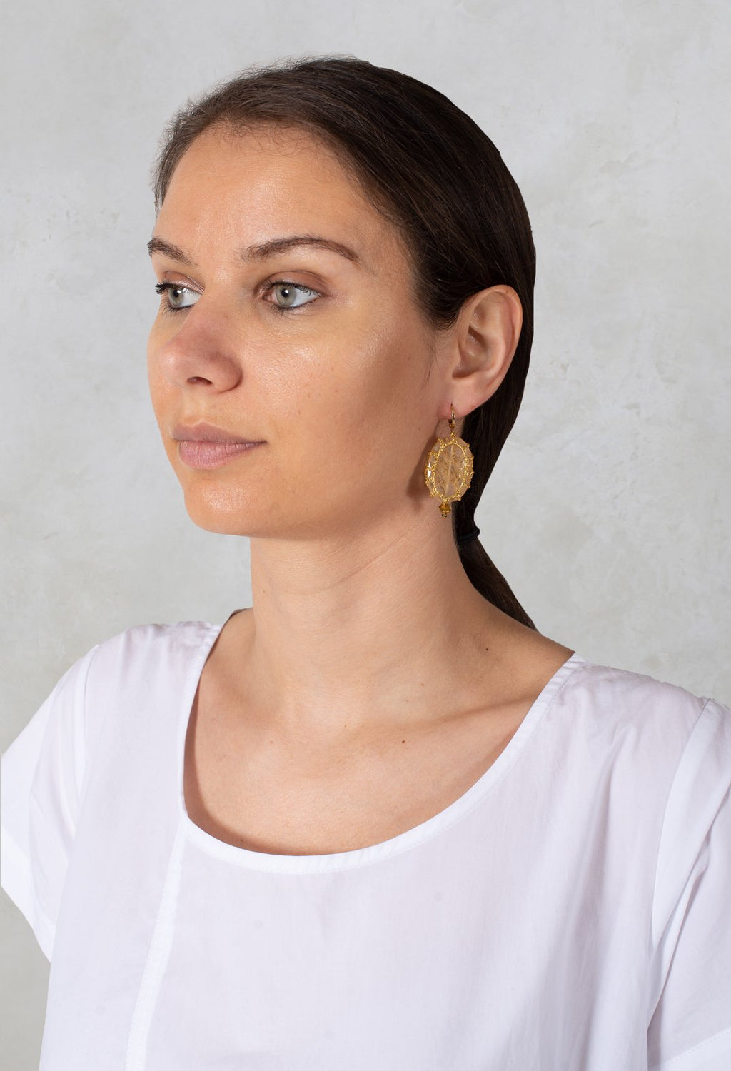 Myriam Bo Earrings in Champagne