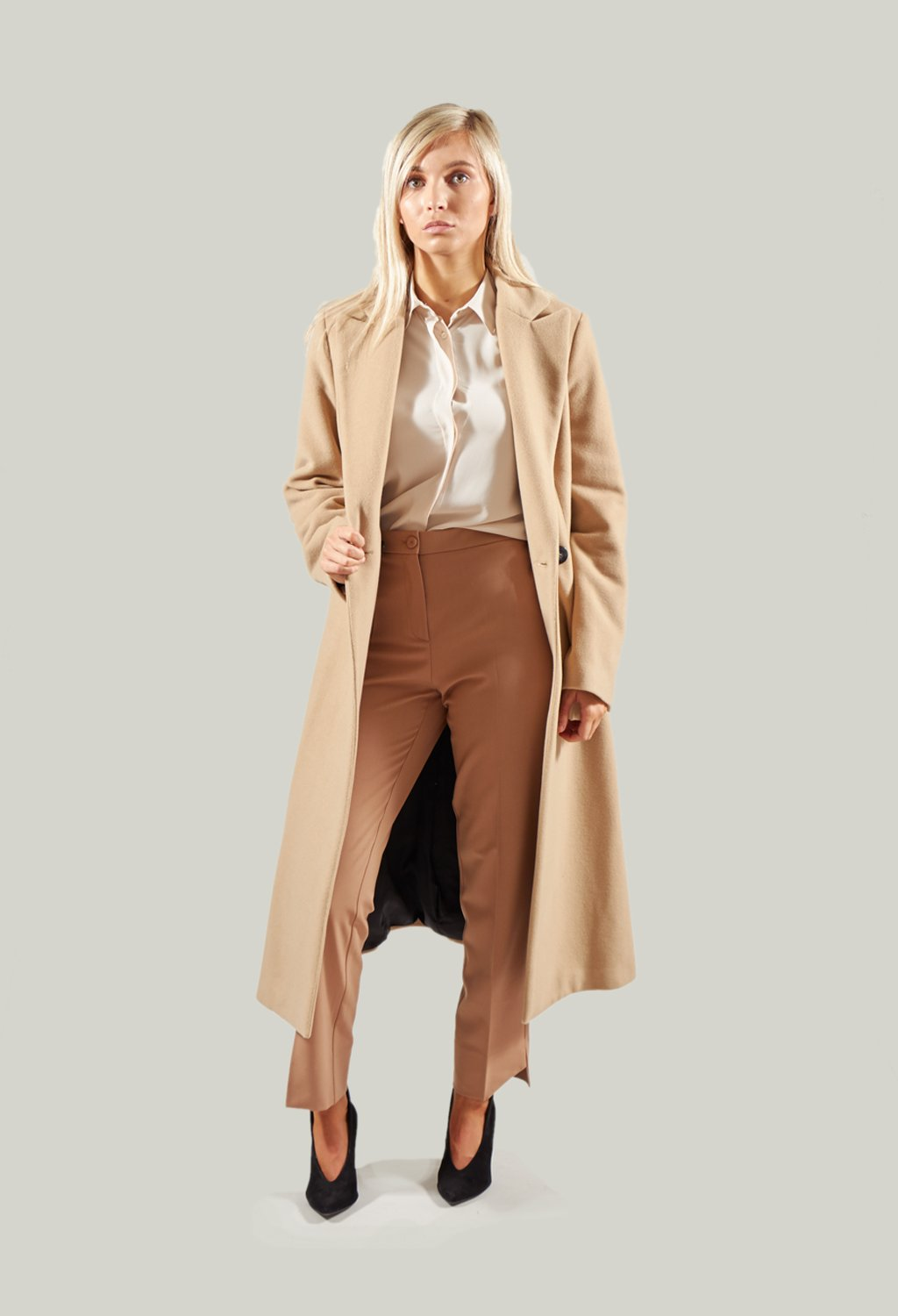 Tailored Duster Coat in Camel