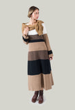 Midi Jumper Dress in Brown