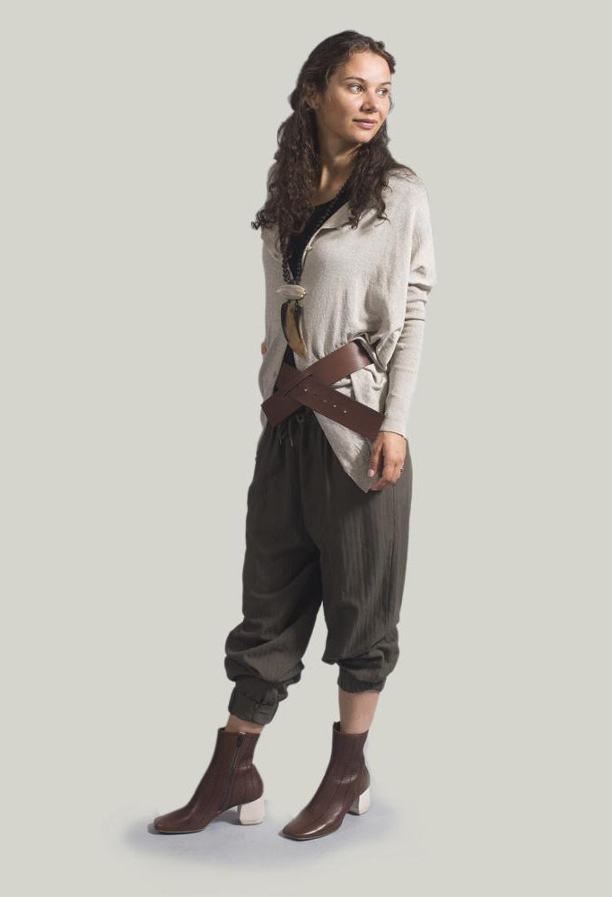 Slouch Jogger Style Trousers in Japanese Army