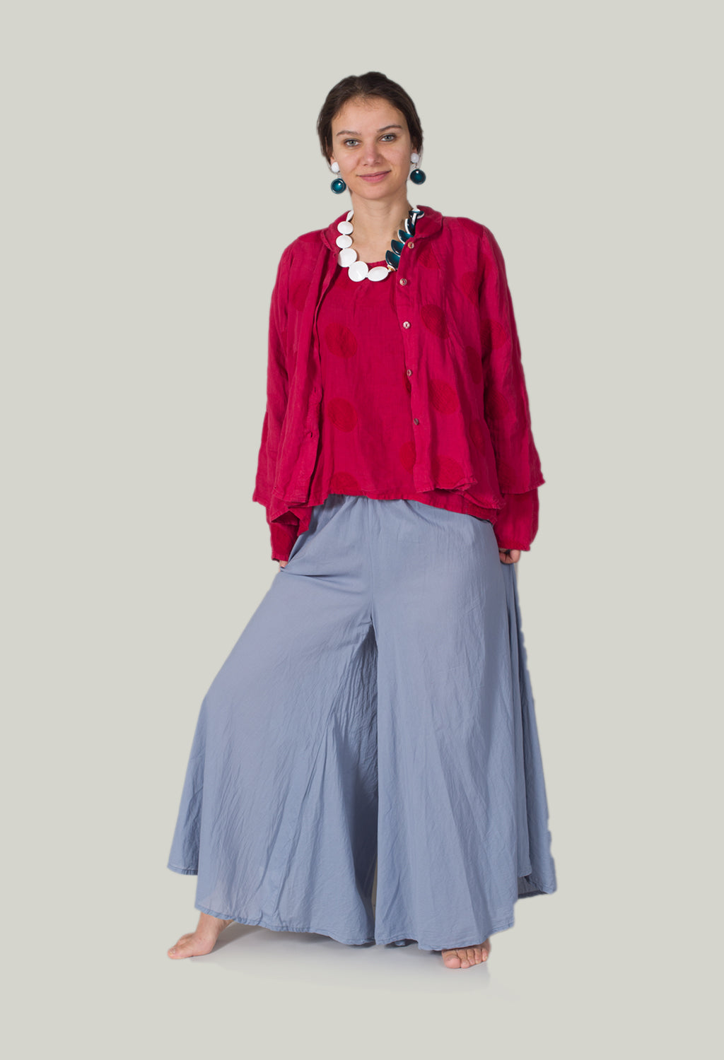 Wide Leg Trousers in Wind