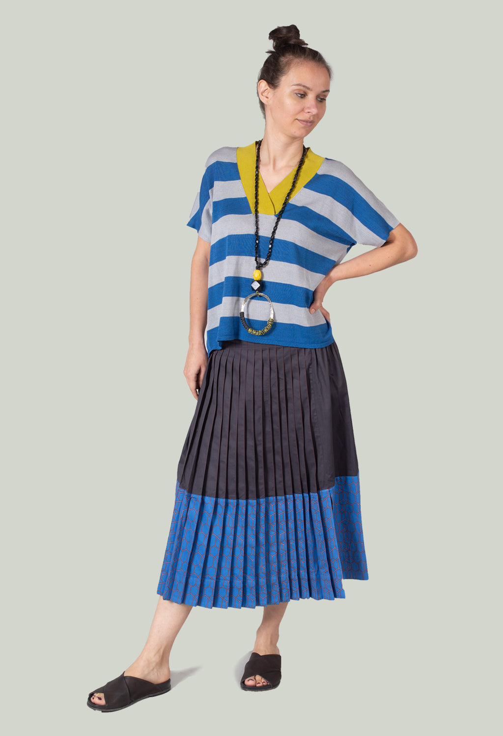 Multipleats Ilsa Skirt in Imperial Blue