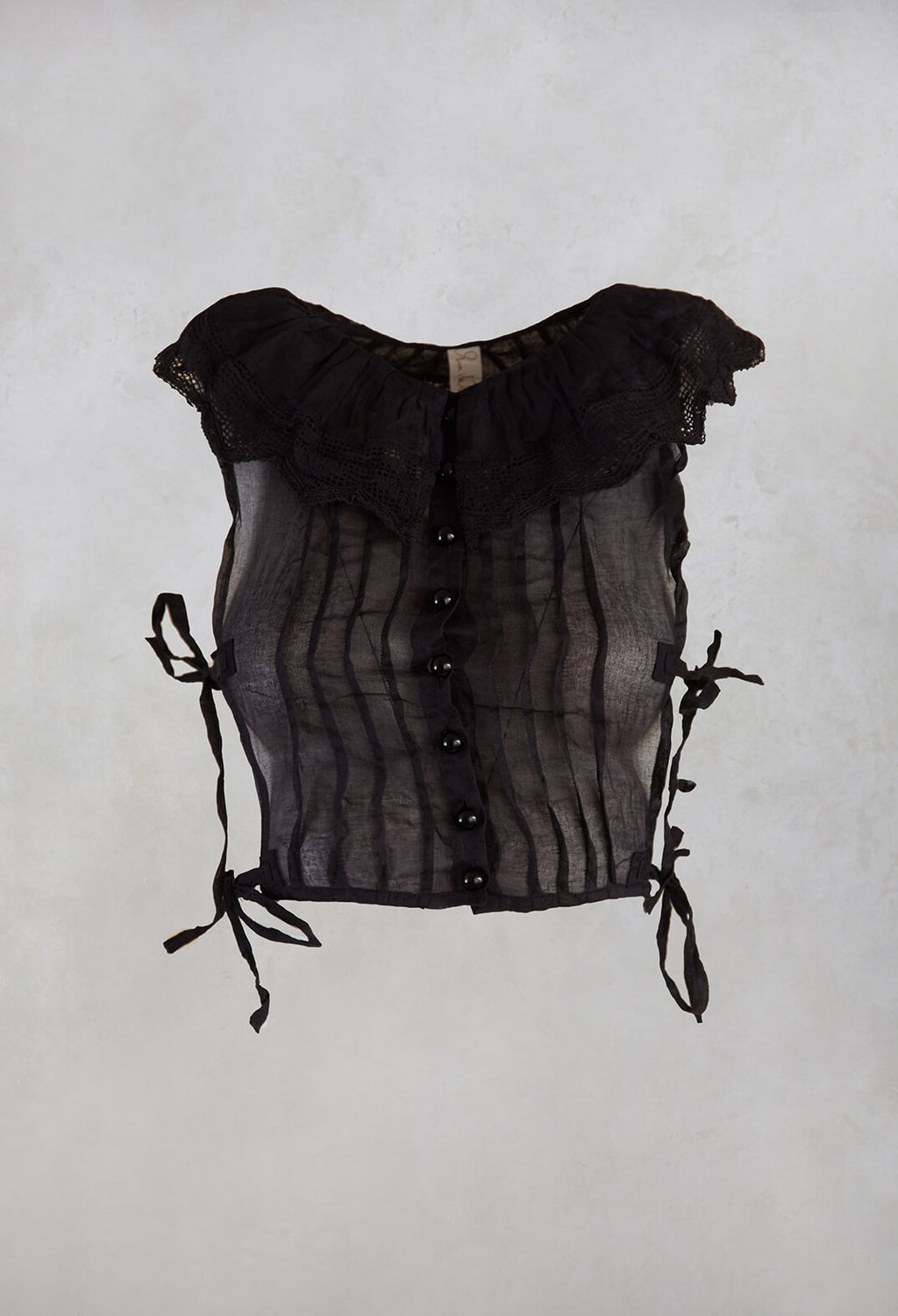 Organdie Collar in Vintage Black