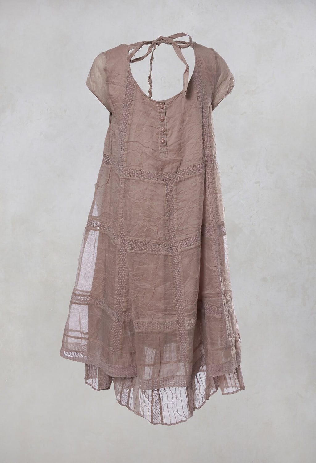 Organdie Dress in Dusk Pink