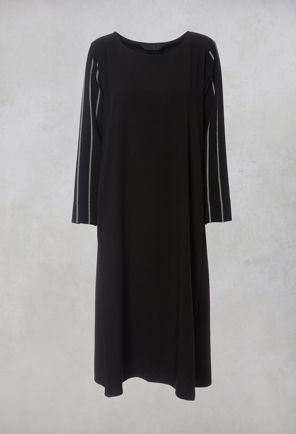 Oversized Midi Dress in Black