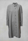 Oversized Pinstripe Shirt in Grey