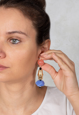 Part Eardrops in Gold