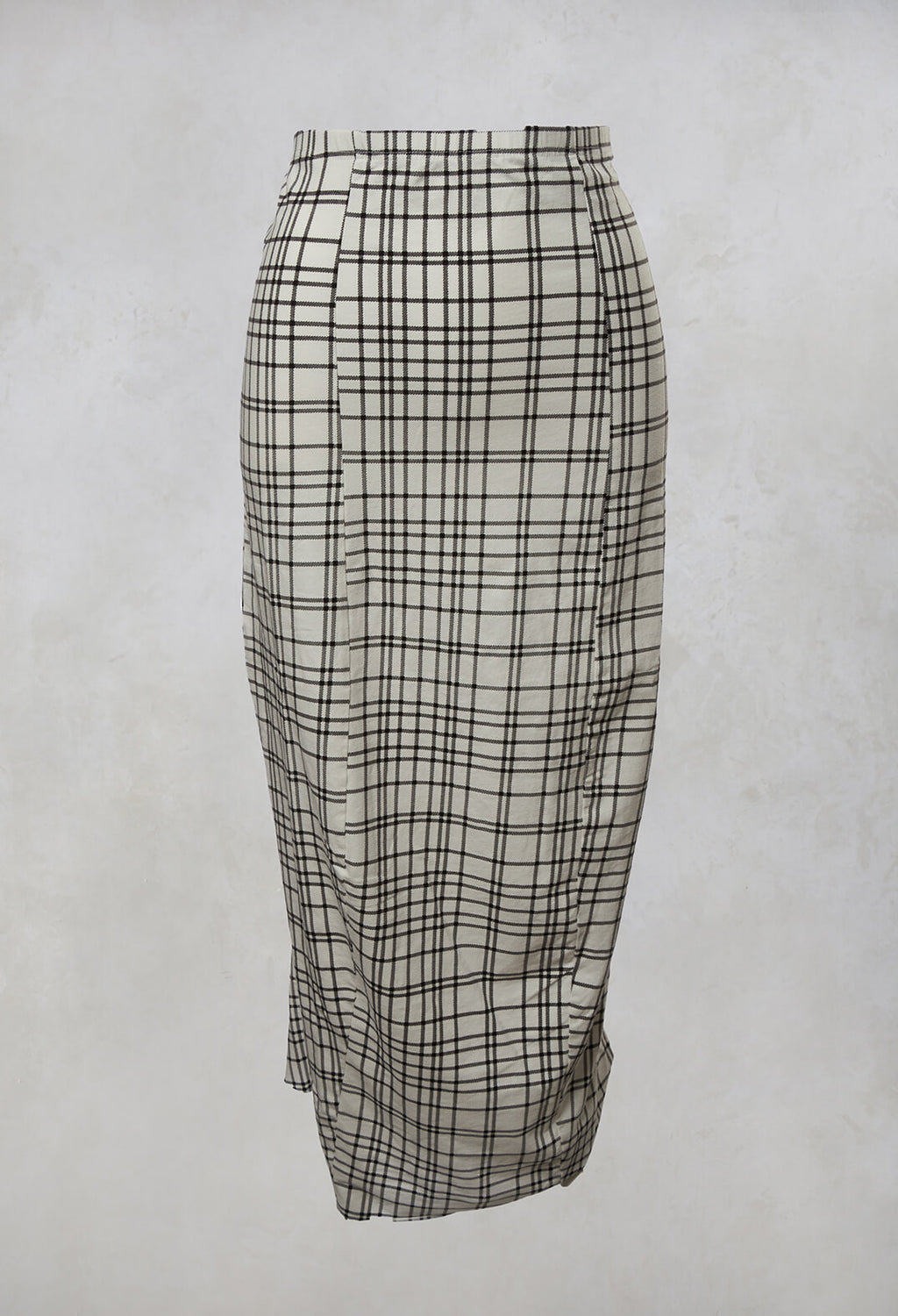 Pencil Skirt in Brown Check