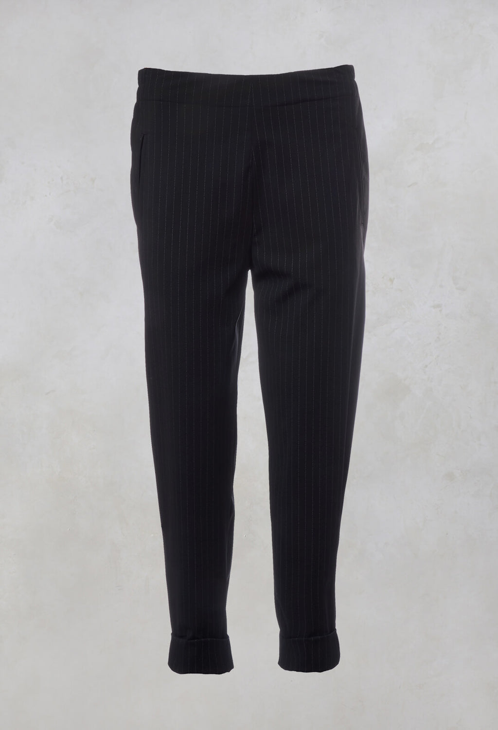Pinstripe Trousers Geisha Long in Black