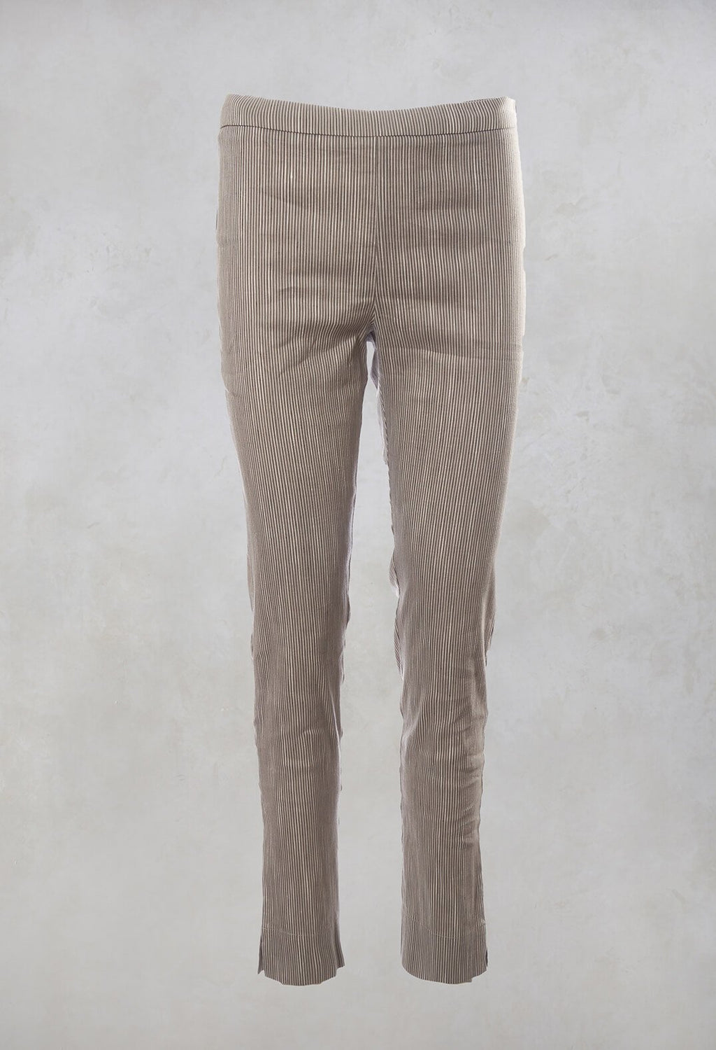 Pinstripe Trousers in Beige