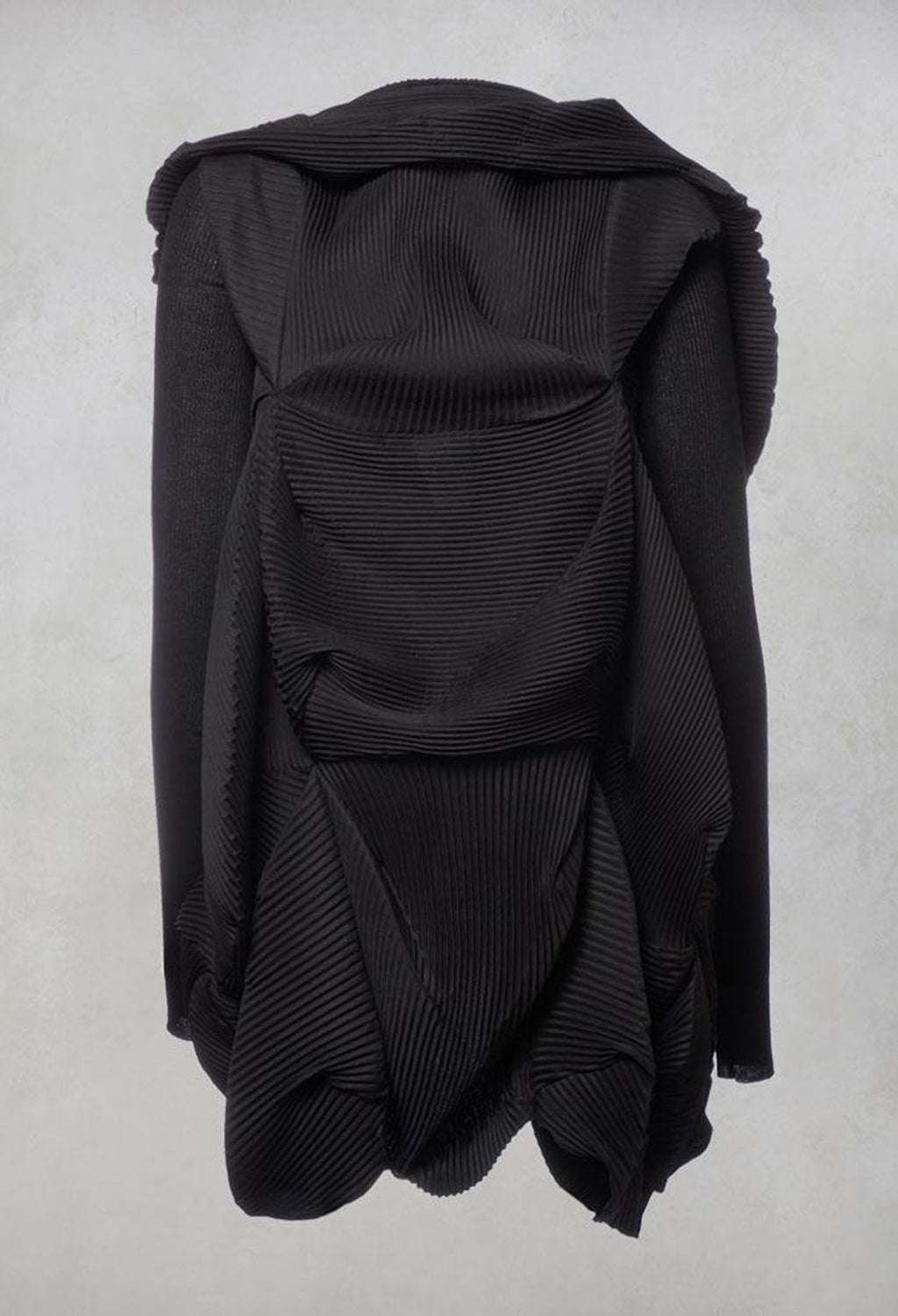 Pleated Jacket in Black