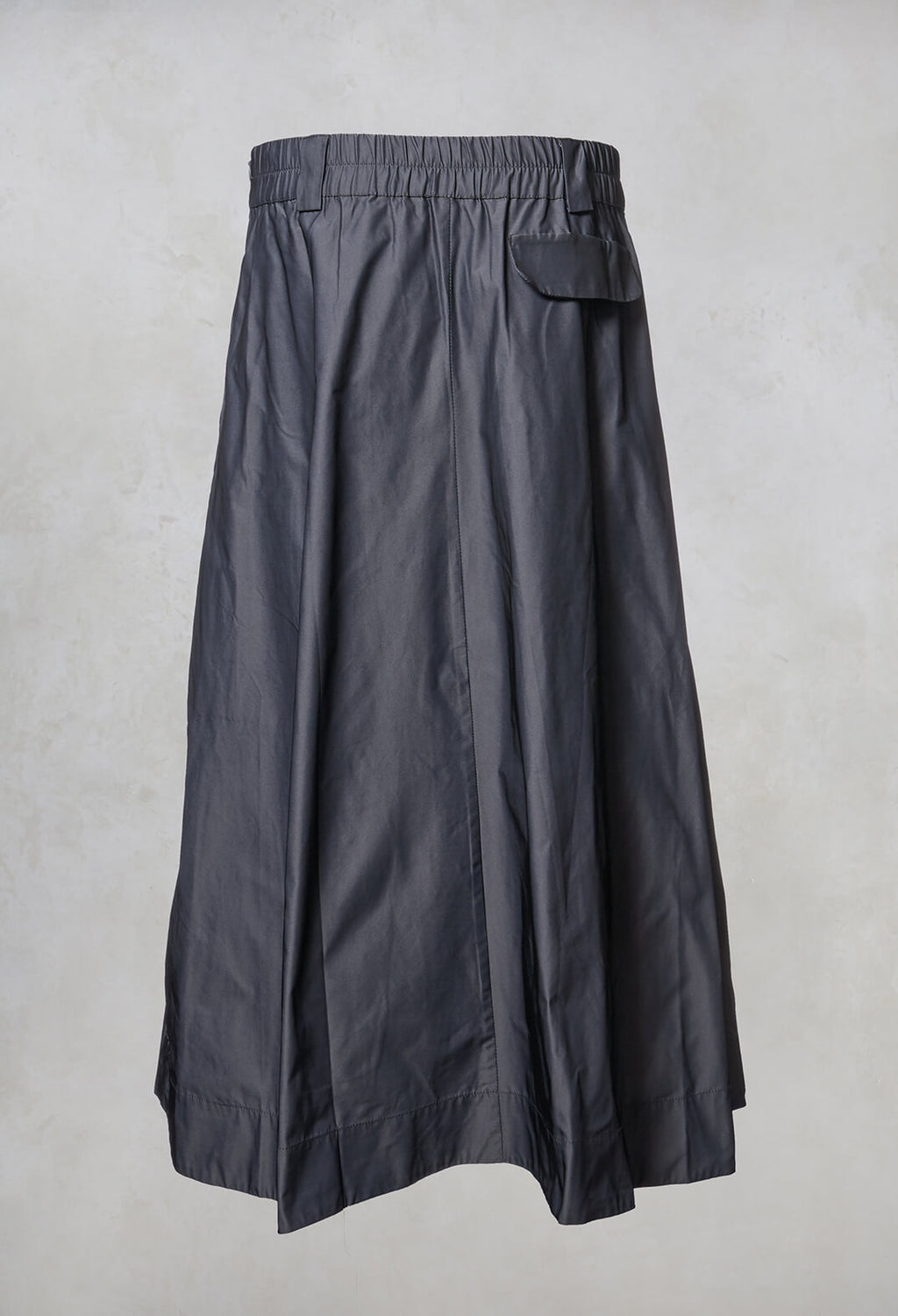 Pleated Midi Skirt in Silver