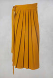 Pleated Skirt with Sash in Mustard