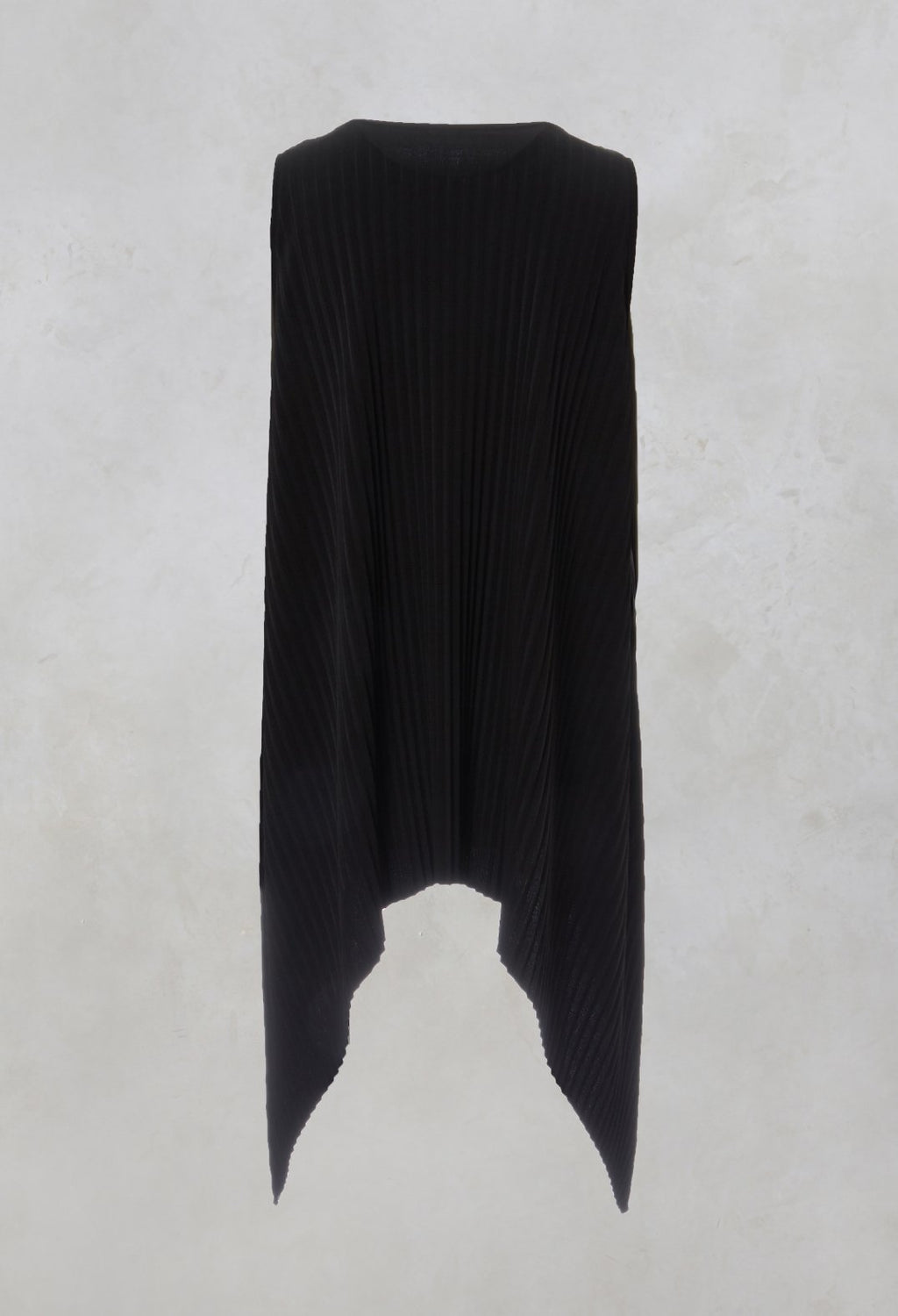 Pleated Vest Top in Black