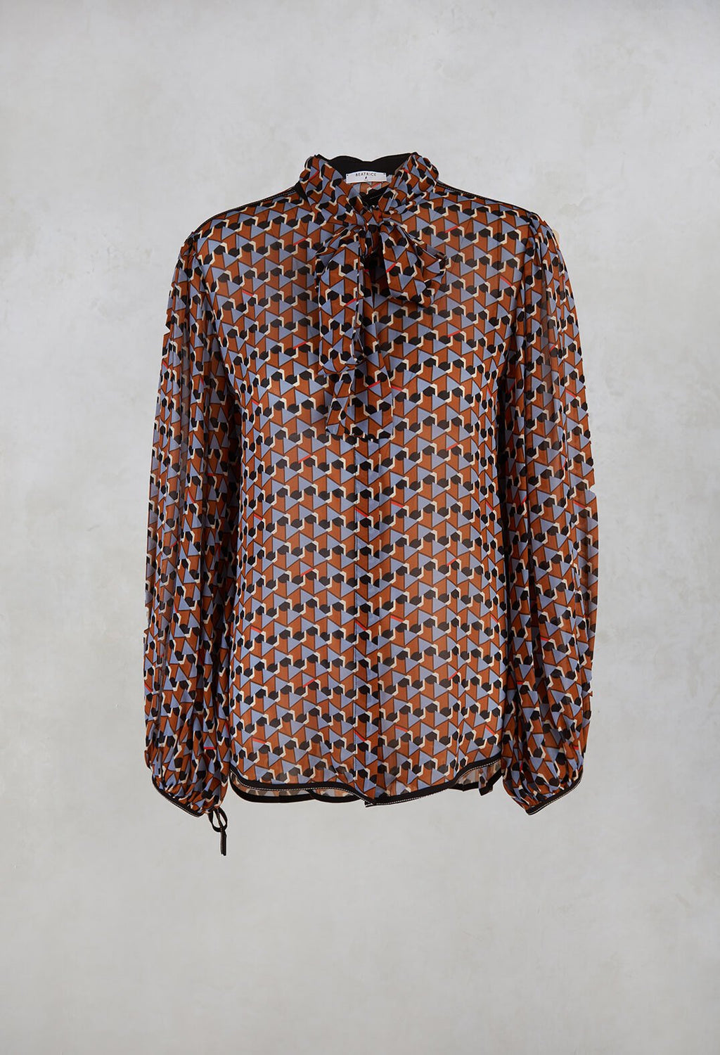 Printed Blouse in Brown