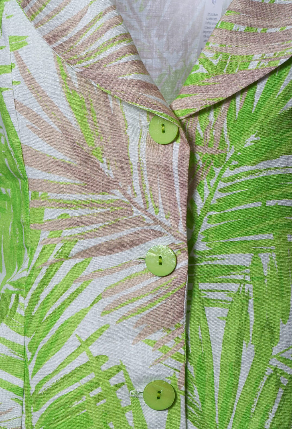 Printed Linen Jacket in Lime