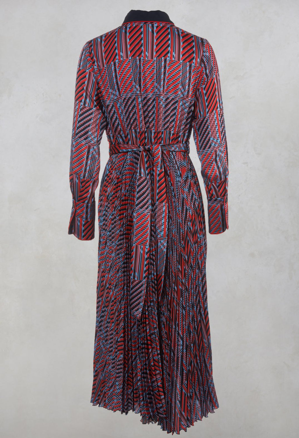 Printed Maxi Dress in Red / Blue