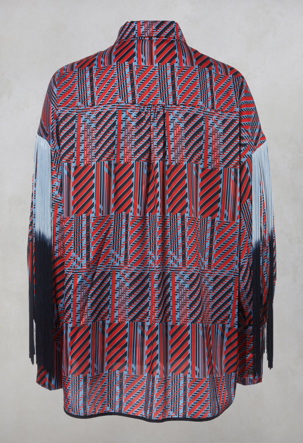 Printed Shirt in Red / Blue