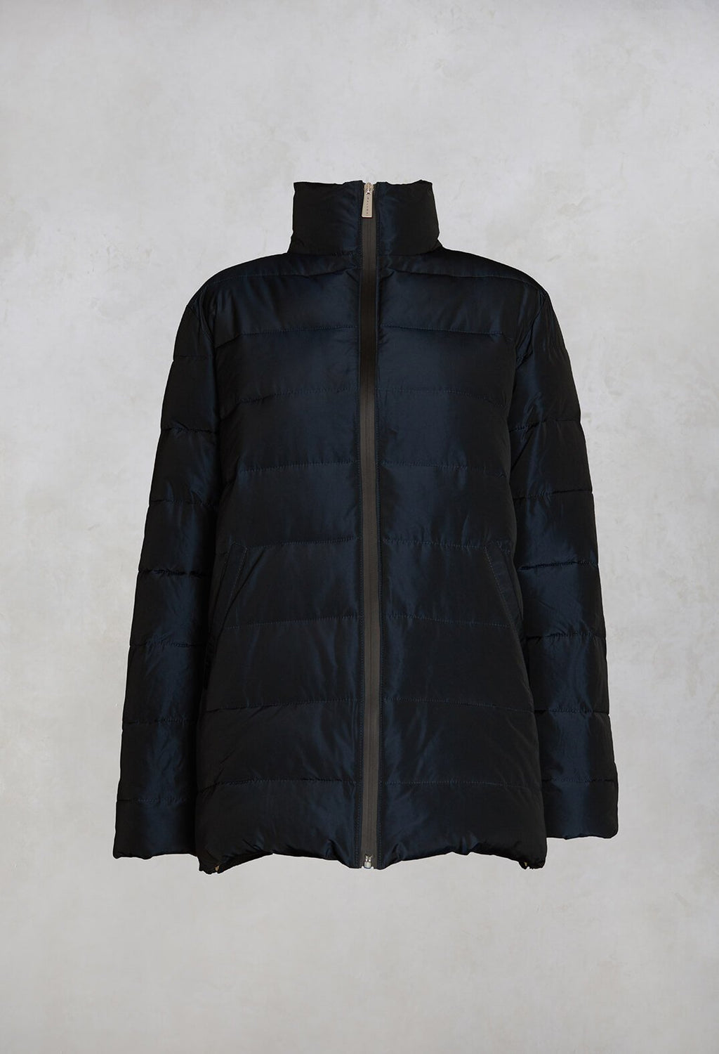 Puffer Coat in Navy