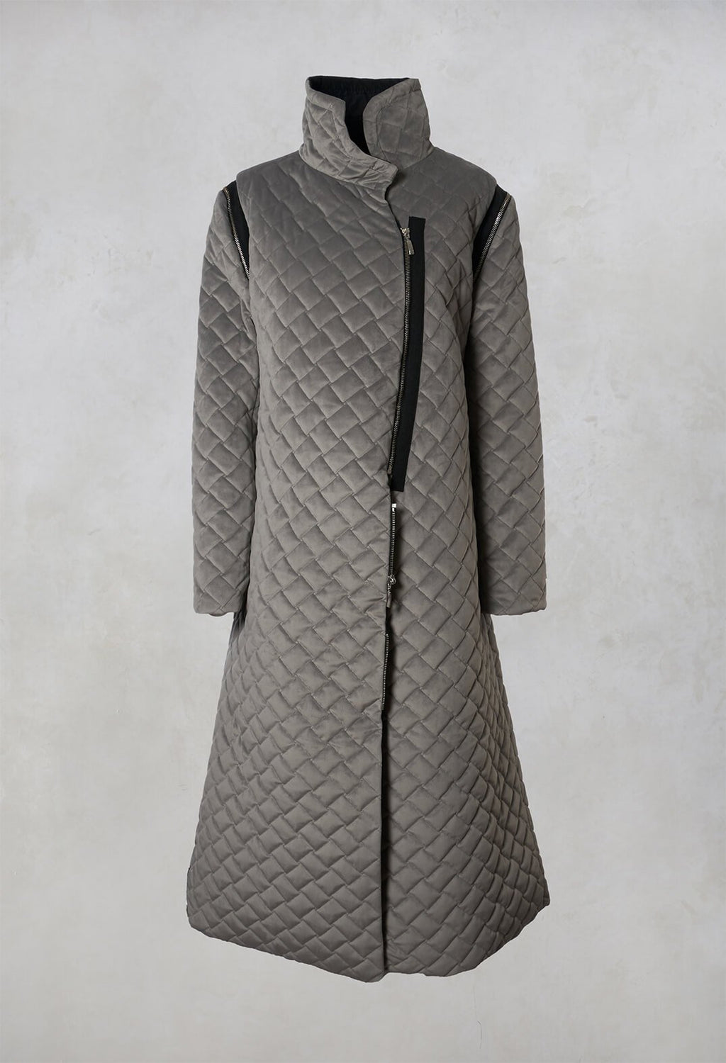 Quilted Coat in Grey