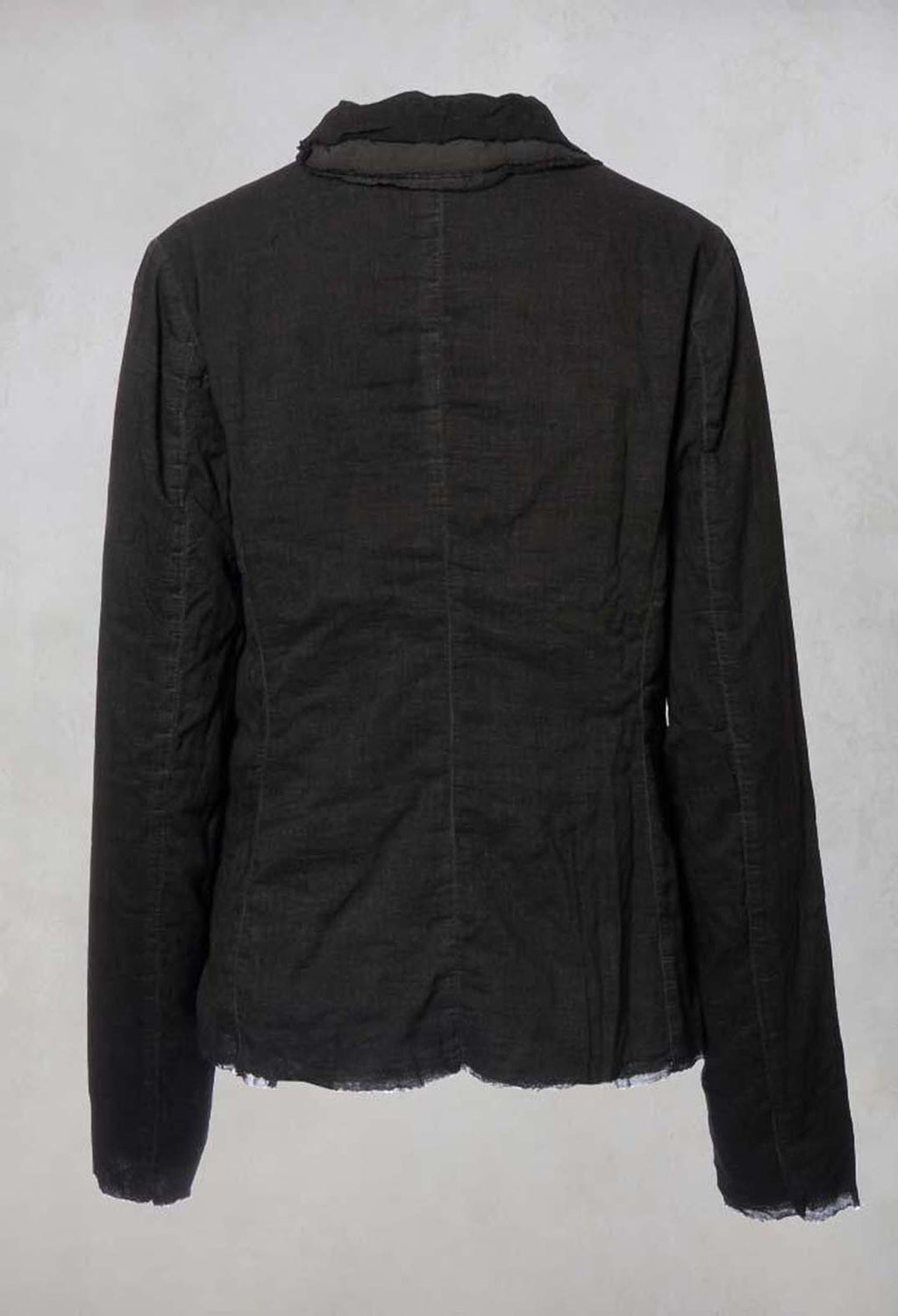 Raw Hem Jacket in Carbon