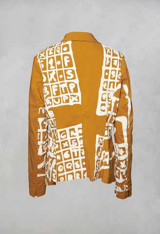 Riding Jacket in Mango Print