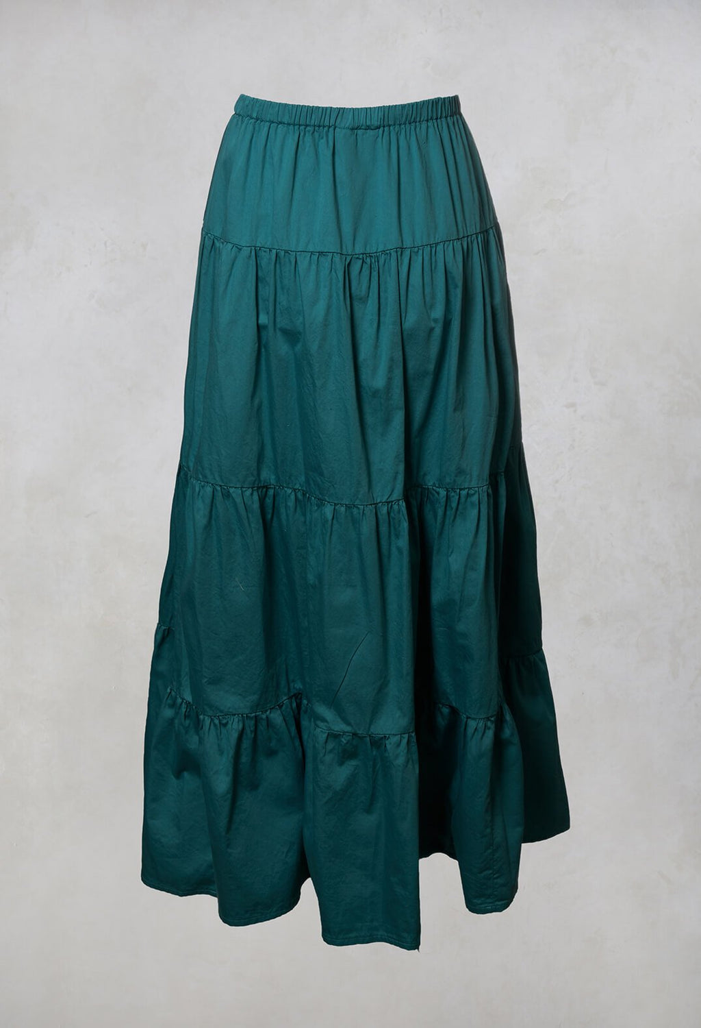 Sharm Maxi Gathered Skirt in Teal