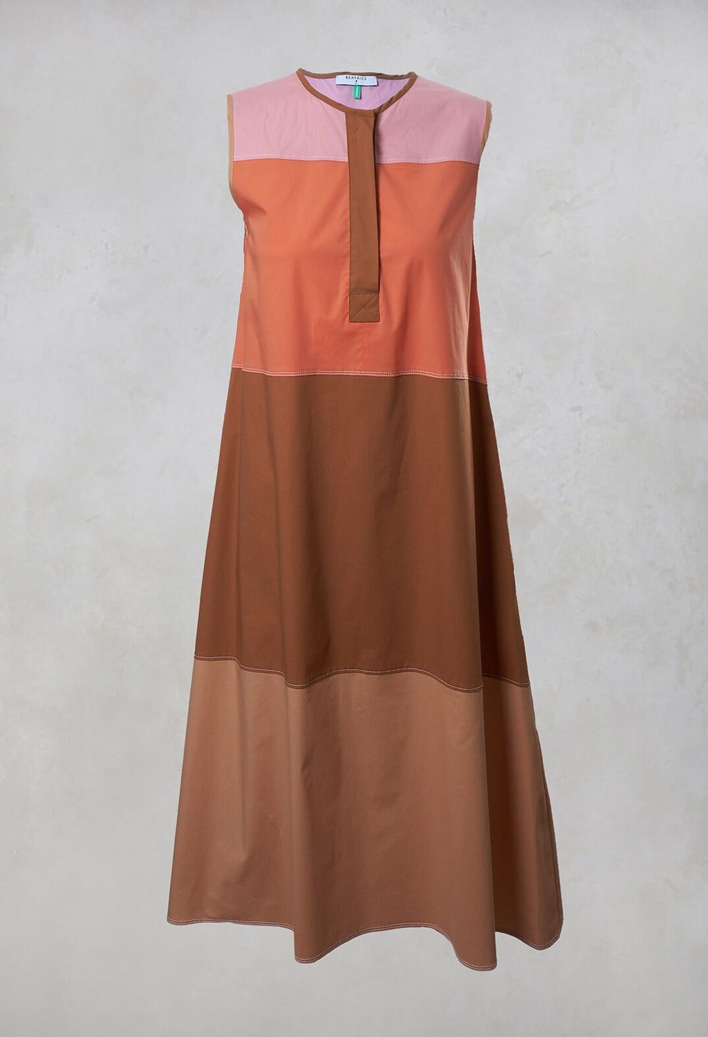Shift Dress in Light Brown