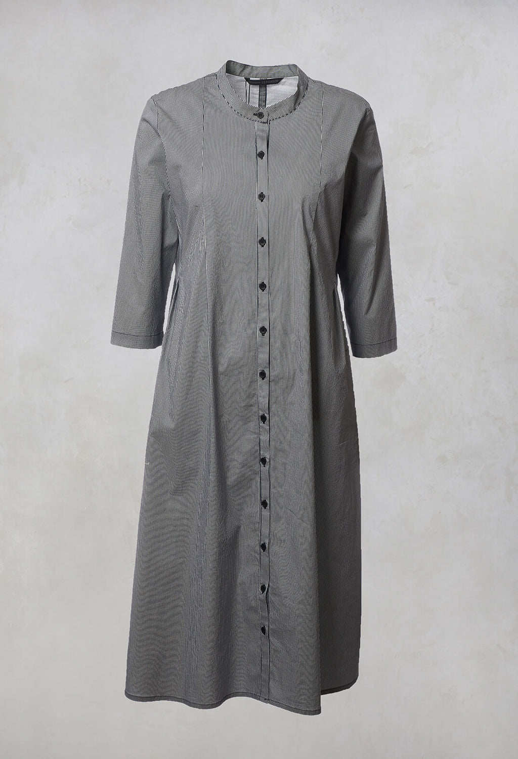 Shirt Dress Kahoy in Navy / White