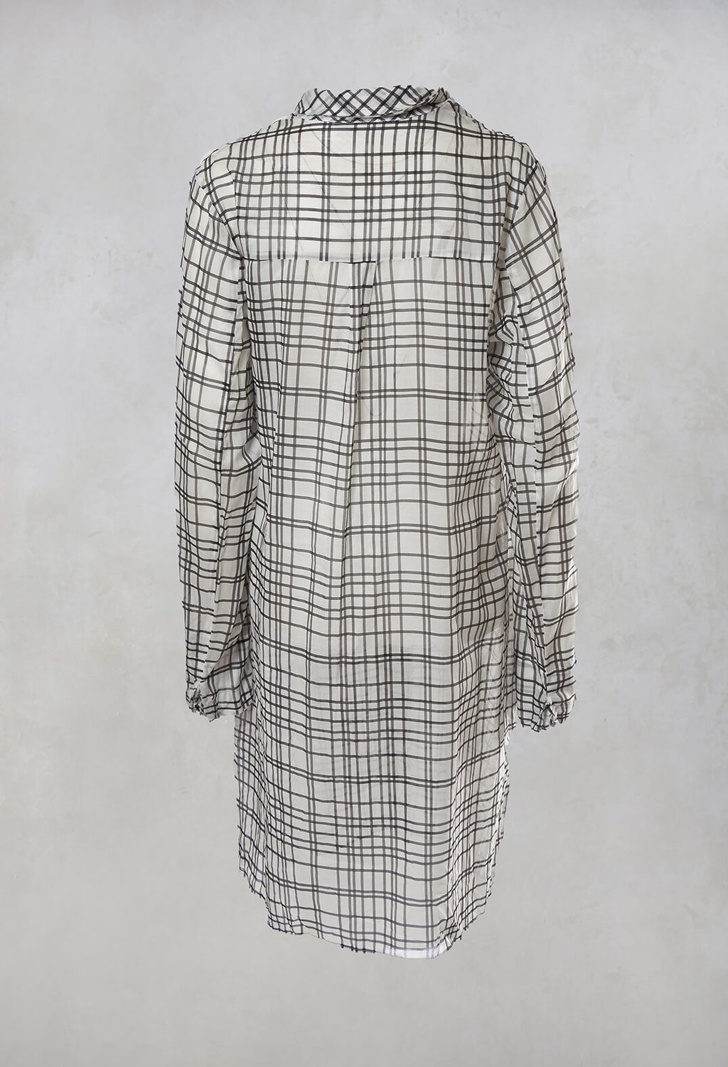 Shirt Dress in Black Check
