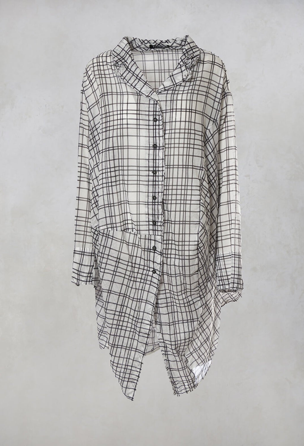 Shirt Dress in Blue Check