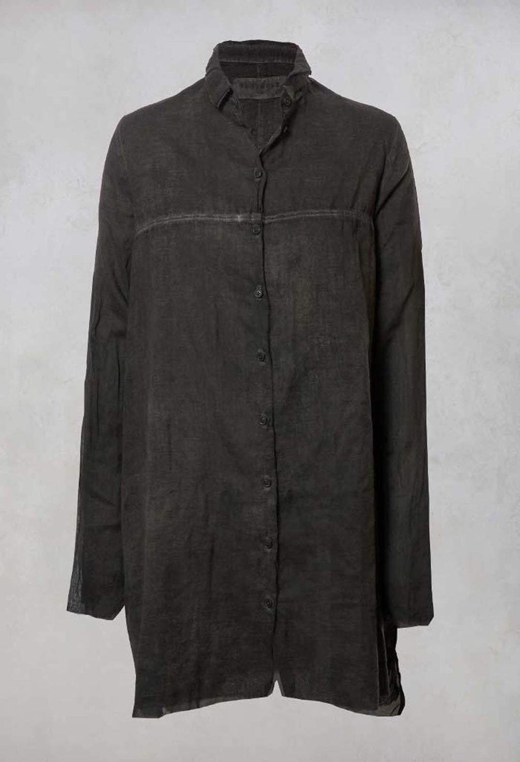 Shirt Dress in Carbon