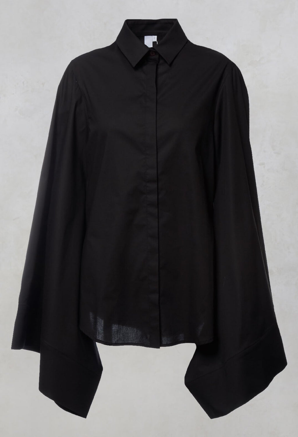 Shirt with Cape Sleeves in Gin