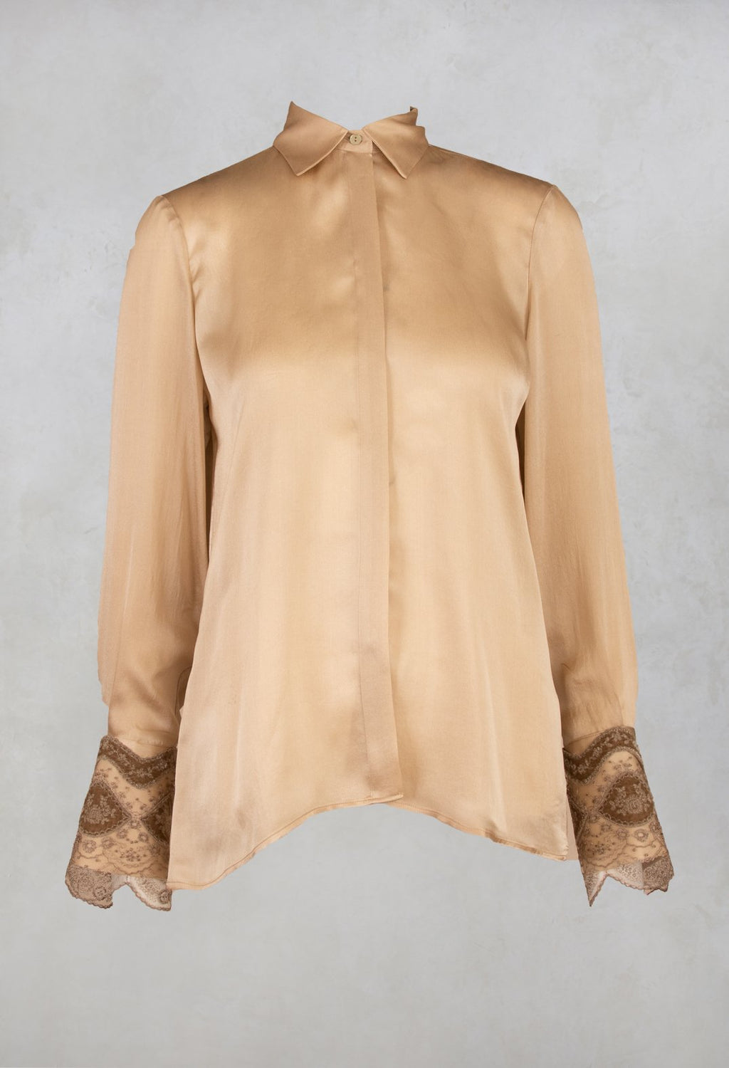 Silk Blouse in Champagne