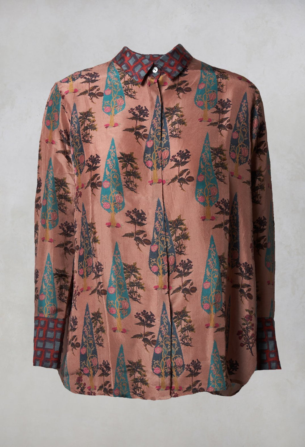 Silk Shirt in Burlwood