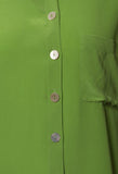 Silk Shirt in Verde Muschio