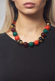 Simple Ball Necklace in Green / Coral / Black / Burgundy