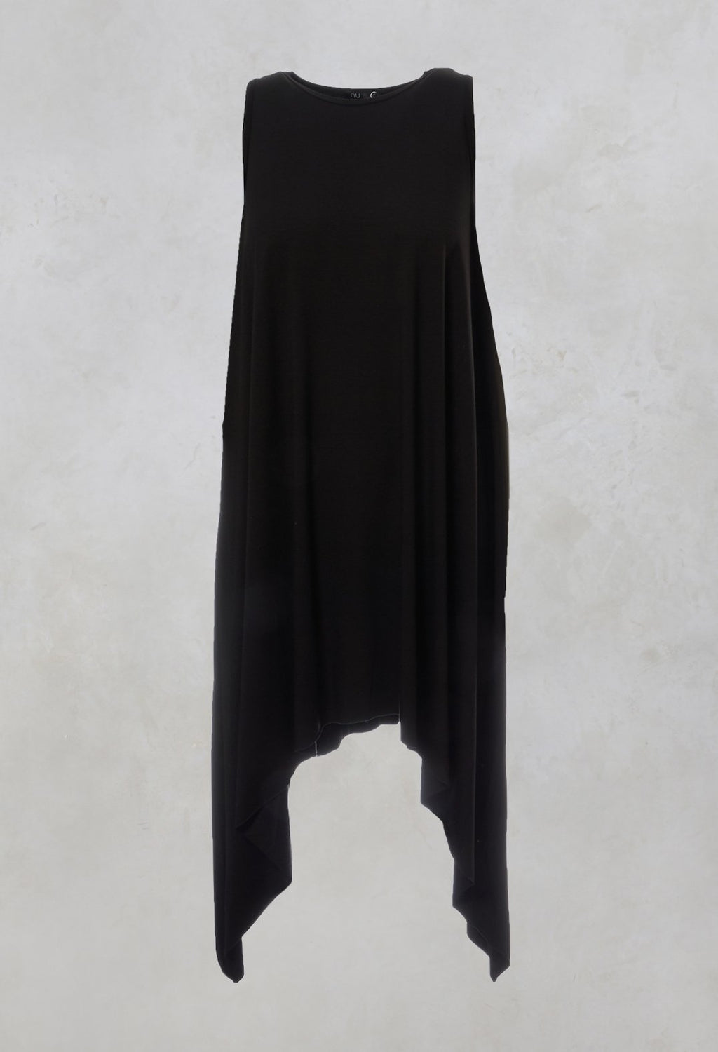 Sleeveless Asymmetric Dress in Black