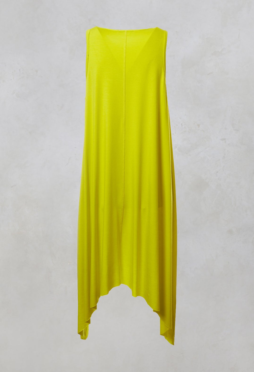 Sleeveless Asymmetric Dress in Yellow