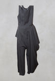 Sleeveless Jumpsuit in Nero