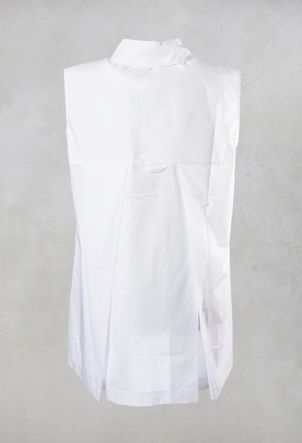 Sleeveless Shirt in White