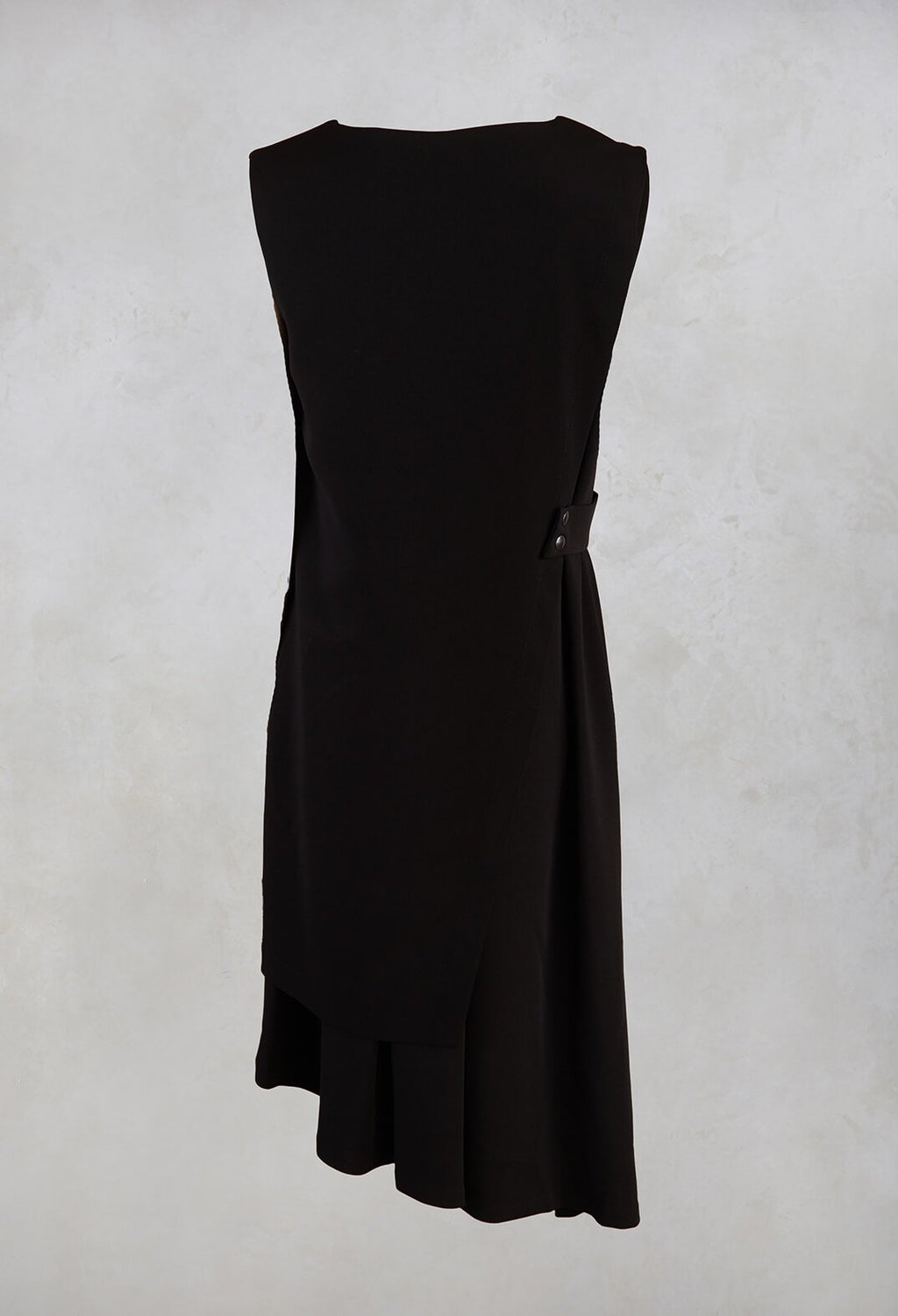 Sleeveless Wrap Dress in Black