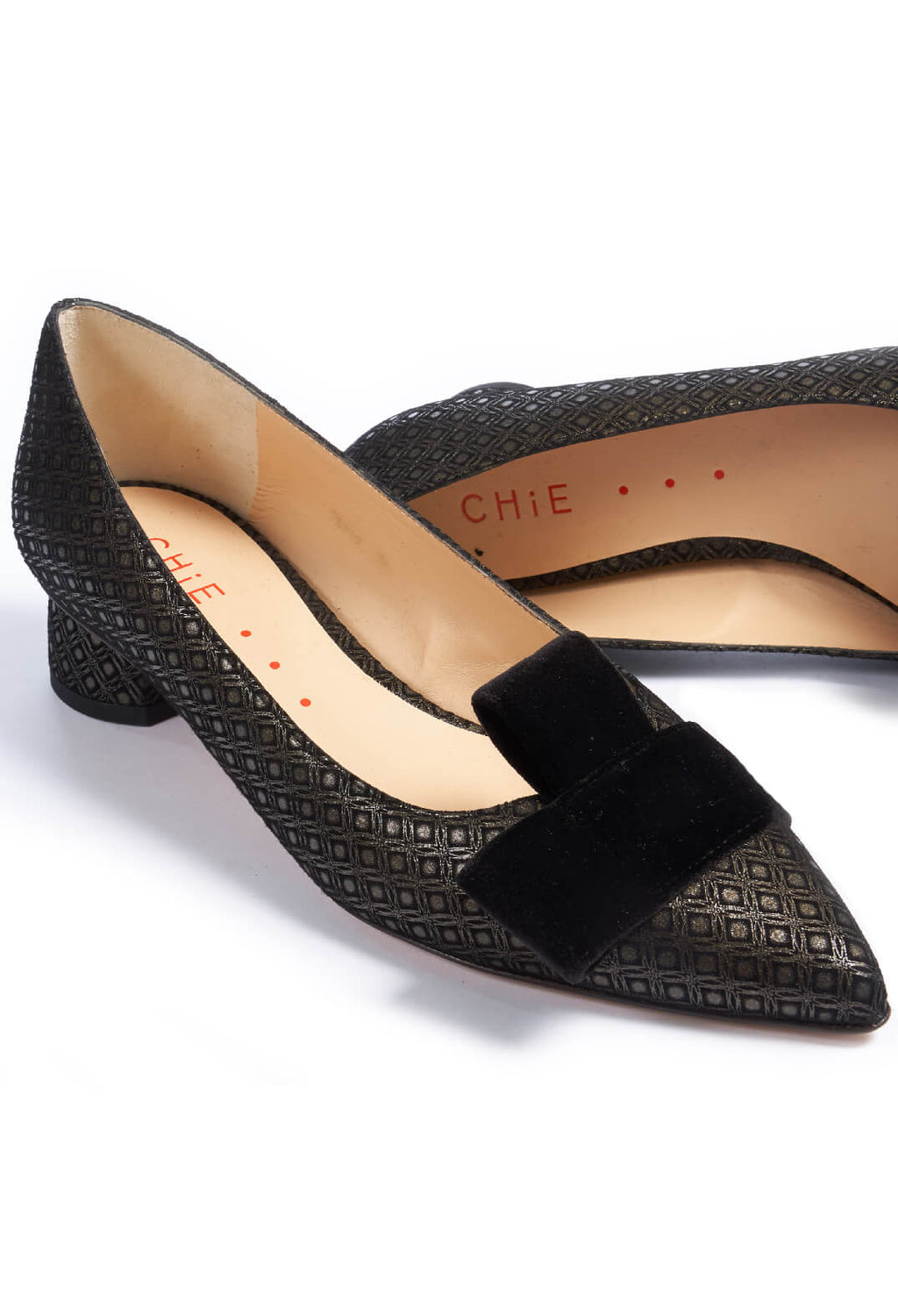 Slip On Heels in Neruda / Bronce / Velour / Negro