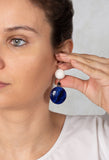 Small Eardrops in Blue