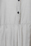 Smock Shirt in White Clay
