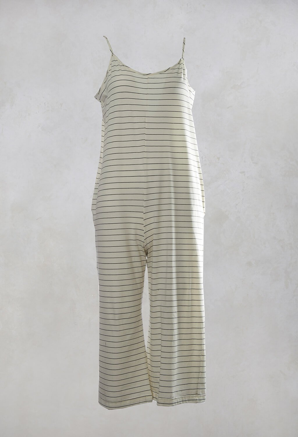 Sole Rigato Jumpsuit in Lava / Latte