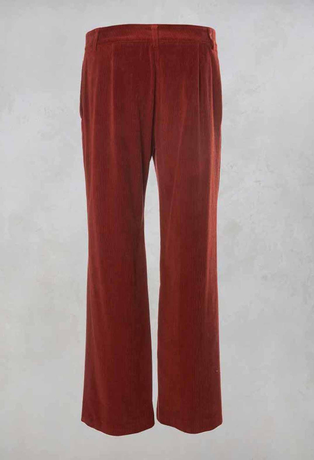 Straight Leg Courdroy Trousers in Lobster