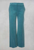 Straight Leg Courdroy Trousers in Octane Green